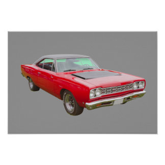 1968 Plymouth Roadrunner Muscle Car Poster