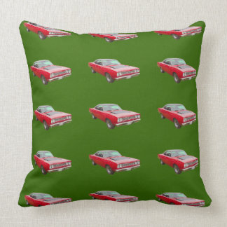 1968 Plymouth Roadrunner Muscle Car Throw Pillow