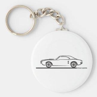 1968 Pontiac Firebird Basic Round Button Keychain