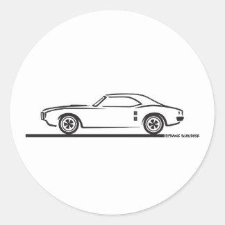 1968 Pontiac Firebird Classic Round Sticker
