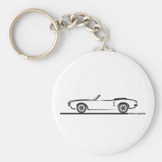 1968 Pontiac Firebird Convertible Basic Round Button Keychain