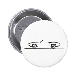 1968 Pontiac Firebird Convertible Pinback Button