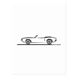1968 Pontiac Firebird Convertible Postcard