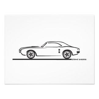 1968 Pontiac Firebird Personalized Invites