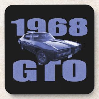 1968 Pontiac GTO Blue Drink Coasters