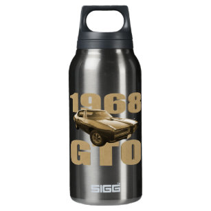 1968 Pontiac GTO Muscle Car Gold Insulated Water Bottle