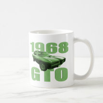 1968 Pontiac GTO Muscle Car Green Coffee Mug