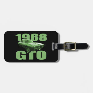 1968 Pontiac GTO Muscle Car Green Tag For Bags