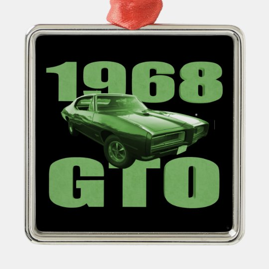 1968 Pontiac GTO Muscle Car Green Metal Ornament