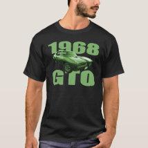 1968 Pontiac GTO Muscle Car Green T-Shirt