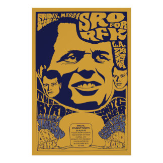 "1968 posters psicodélicos de RFK de la ""entrada Póster"