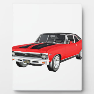 1968 Red Muscle Car Plaque