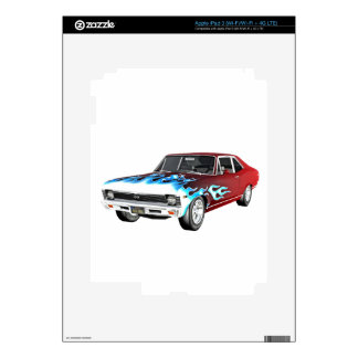 1968 Red White and Blue Muscle Car iPad 3 Decal