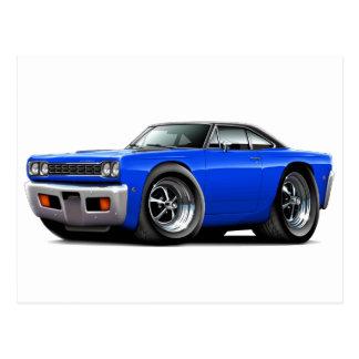 1968 Roadrunner Blue-Black Top Postcard