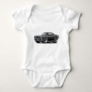 1968 Super Bee Black-Flat Hood Car Baby Bodysuit