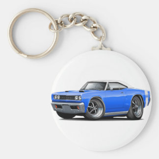 1968 Super Bee Blue-White Top Wide Stripe Keychain