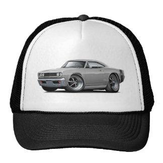 1968 Super Bee Grey-Black Wide Stripe Trucker Hat
