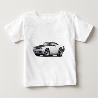 1968 Super Bee White-Black Top Wide Stripe Car Infant T-shirt