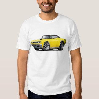 1968 Super Bee Yellow-Black Top Double Stripe Tee Shirt