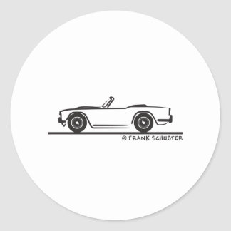 1968 Triumph TR4 Classic Round Sticker