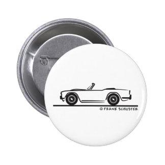 1968 Triumph TR4 Pinback Button