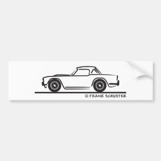 1968 Triumph TR4 Softtop Bumper Sticker
