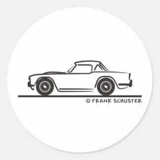 1968 Triumph TR4 Softtop Classic Round Sticker