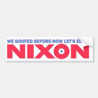 1968 Vintage Repro Nixon Election Bumper Sticker Car Bumper Sticker