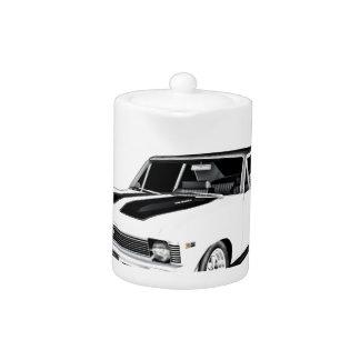 1968 White Muscle Car Teapot