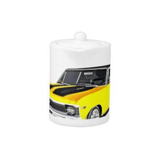 1968 Yellow Muscle Car Teapot