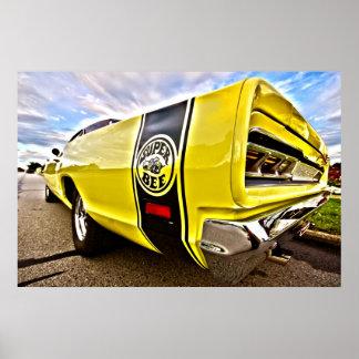 1969 1970 Dodge Coronet Super Bee HDR Art Poster