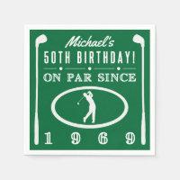 1969 50th Birthday For Golfers Napkins