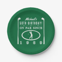 1969 50th Birthday For Golfers Paper Plate