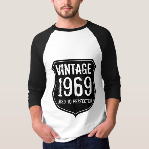 1969 aged to perfection  Dark grey vintage shirt