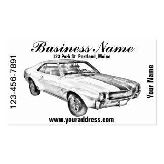 1969 AMC Javlin Car Illustration Business Cards