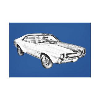 1969 AMC Javlin Car Illustration Canvas Print