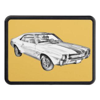 1969 AMC Javlin Car Illustration Trailer Hitch Cover