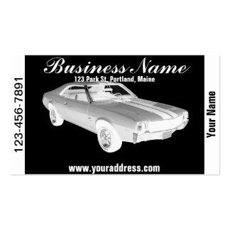 1969 AMC Javlin Muscle Car Art Business Card Templates