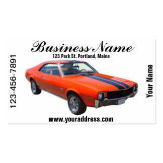 1969 AMC Javlin Muscle Car Business Card Template