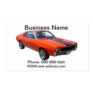1969 AMC Javlin Muscle Car Business Card Templates