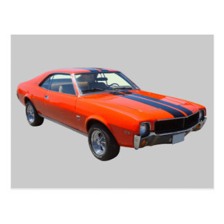 1969 AMC Javlin Muscle Car Postcard