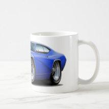 1969 Buick GS Blue Car Coffee Mug
