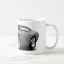 1969 Buick GS Grey Car Coffee Mug