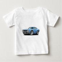 1969 Buick GS Lt Blue Car Baby T-Shirt