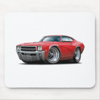 1969 Buick GS Red Car Mouse Pad
