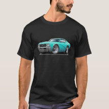 1969 Buick GS Turquoise Car T-Shirt