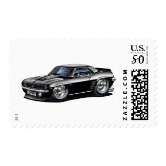 1969 Camaro Black Car Postage