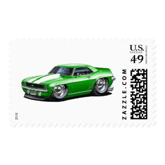 1969 Camaro Green Car Postage