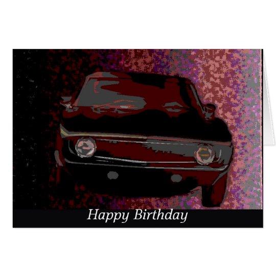 1969 camaro  happy birthday card
