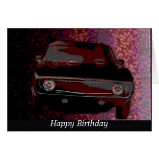 1969 Camaro, Happy Birthday Greeting Card